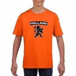 Oranje holland shirt zwarte leeuw kinderen