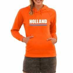 Oranje holland supporter hoodie dames