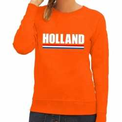 Oranje holland supporter sweater dames