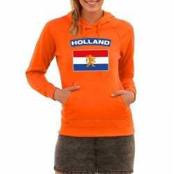 Oranje holland vlag hoodie dames
