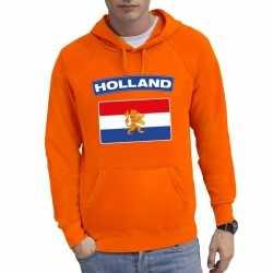 Oranje holland vlag hoodie heren