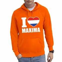 Oranje i love maxima hoodie heren
