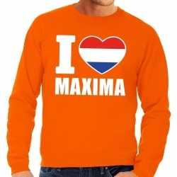 Oranje i love maxima sweater heren
