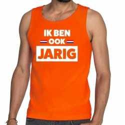 Oranje ik ben ook jarig tanktop / mouwloos shirt heren