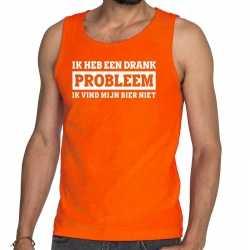 Oranje ik heb een drankprobleem tanktop / mouwloos shirt he