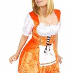 Oranje serveerster jurkje
