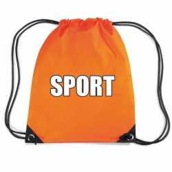 Oranje sport rugtasje/ gymtasje kinderen