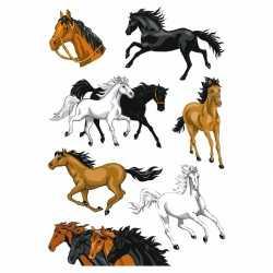 Paarden folie glitter stickers 1 vel