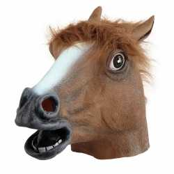 Paarden masker bruin volwassenen