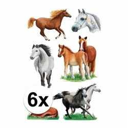 Paarden stickers 6 vellen