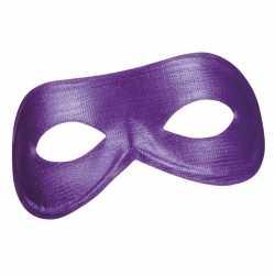 Paars metallic oogmasker dames