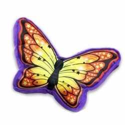 Paars oranje vlinderkussen 50
