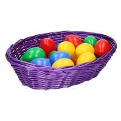 Paars paasmandje eieren 20