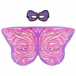 Paars/roze fantasievlinder verkleedset meisjes