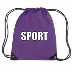 Paars sport rugtasje/ gymtasje kinderen