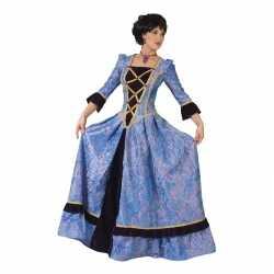 Paars/zwarte jonkvrouw verkleed jurk dames