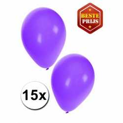Paarse ballonnen 15 stuks