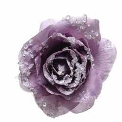 Paarse decoratie bloem 14 op clip