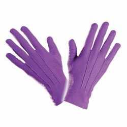 Paarse handschoenen kort