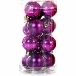 Paarse kerstballen 12 stuks 3