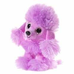 Paarse pluche poedel honden knuffel 15