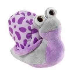 Paarse pluche slak knuffel 16