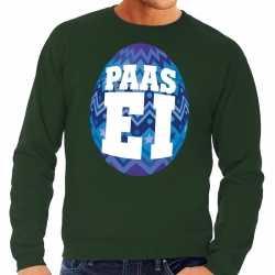 Paas sweater groen blauw ei heren
