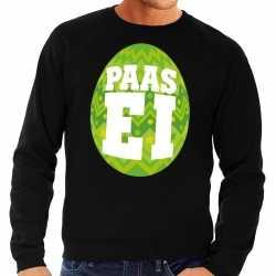 Paas sweater zwart groen ei heren