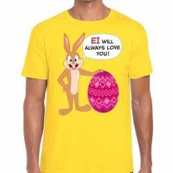 Paas t shirt ei will always love you geel heren