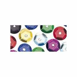 Pailletten gekleurd 6 mm 4000 stuks