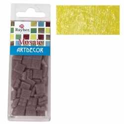 Pakje mozaiek stenen geel 1