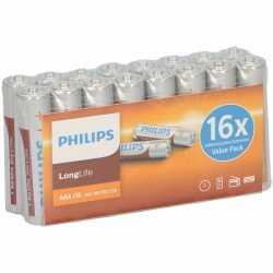 Pakket 16 philips long life aaa batterijen