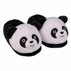 Panda pantoffels dames