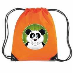 Panda rugtas / gymtas oranje kinderen