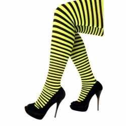 Panty gestreept geel zwart