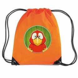Papegaaien rugtas / gymtas oranje kinderen