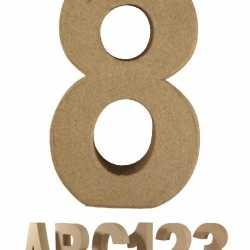 Papier mache cijfer 8