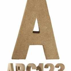 Papier mache letter A