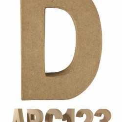 Papier mache letter D