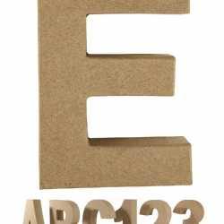 Papier mache letter E