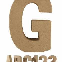 Papier mache letter G