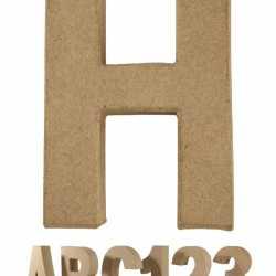 Papier mache letter H