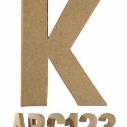 Papier mache letter K
