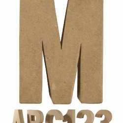 Papier mache letter M