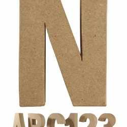 Papier mache letter N