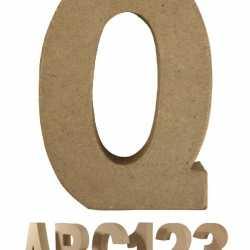 Papier mache letter Q