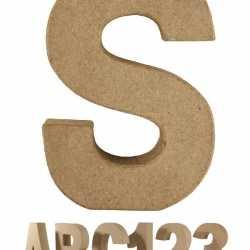 Papier mache letter S