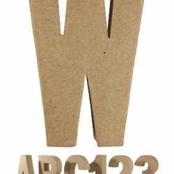 Papier mache letter W