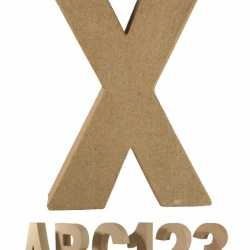Papier mache letter X