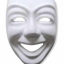Papier mache masker joker